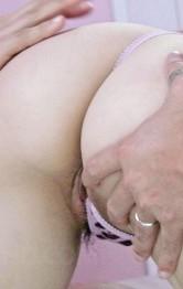 Rina Yuuki Asian gives blowjob while riding phallus in threesome