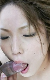 Tsubasa Tamaki Asian has hairy cunt filled with shlong and cum