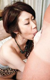 Huuka Takanashi Asian takes cock deep in mouth and in fish taco