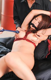 Satomi Suzuki Asian with fine cans in ropes sucks and rides dicks