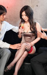 AYAMI Asian with nasty bust sucks boners and is aroused on cunt