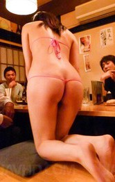 Minami Kitagawa Asian in tiny lingerie is aroused with vibrators