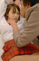Shiori Uta Asian gets hard penises in mouth and in licked pussy