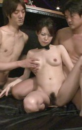 Rino Asuka Asian has dicks in mouth and vibrators on fish taco