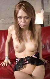 Rina Asian babe is fucked from behind while sucking other penis