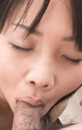Hikaru Momose Asian has nipples licked and sucks two shlongs