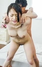 Kaede Niiyama busty is roughly doggy nailed and sucks joysticks
