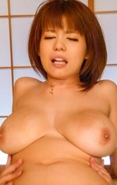 Airu Oshima has huge cans' nipples sucked and hairy twat fucked