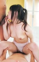 Miyu Shiina Asian has mouth and love box filled with shlongs