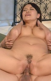 Saki Sudou with naughty chest sucks dong while is drilled a lot