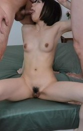Yume Aoi Asian gets hard cocks in mouth and is fucked in nooky